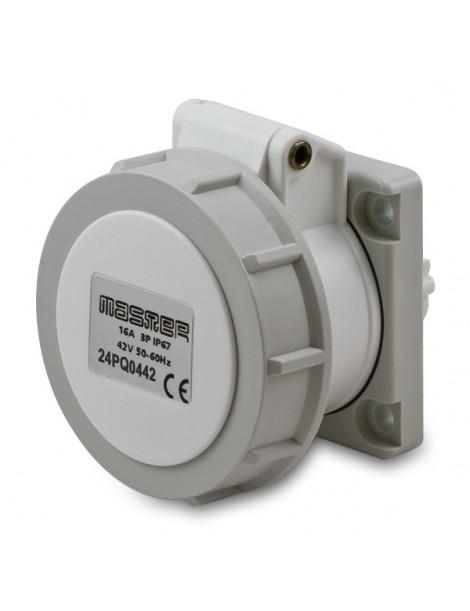 PR.QUA.2P 16A 50/60HZ 24V IP67