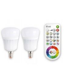 BLISTER 2 LAMPADE LED RGB +TEL. E27 60W