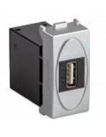 ALIMENTATORE USB 2,1A. 1MOD. MODO STEEL