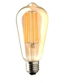 LAMPADA EDISON STICK 725LM 7W E27 GOLD