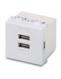 ALIMENTATORE DOPPIA USB 4A. 2 MODULI MIX