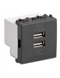 ALIMENTATORE DOPPIA USB 4A. 2 MOD. MODO