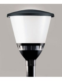 LAMPIONE DA PALO PATIO E27 SCHERMO OPALE