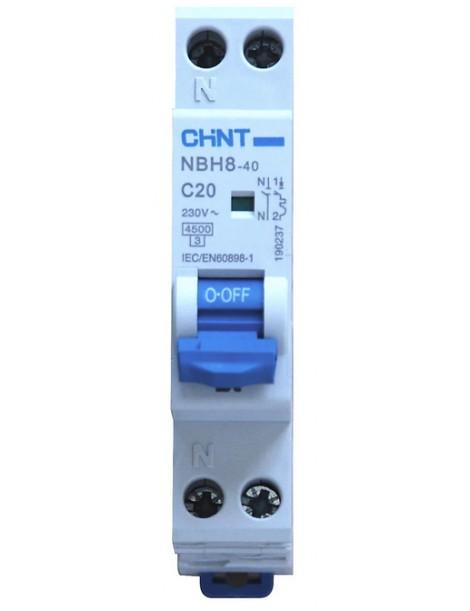 NBH8-40/C20-1PN-4,5 MT 1P+N 20A 4,5KA 1M