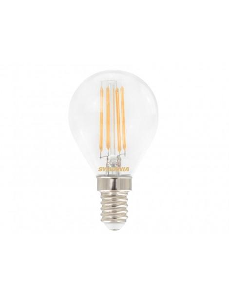 LAMPADA LED SFERA E14 4,5W 2700K. TRASP.