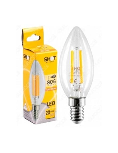LAMPADA LED STICK OLIVA E14 6W 806LM BC