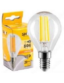 LAMPADA LED STICK SFERA E14 6W 806LM BC
