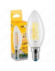 LAMPADA LED OLIVA STICK E14 4W 40W 2700K