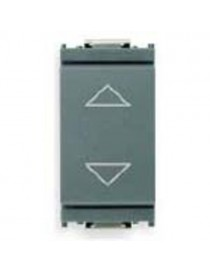 Pulsante commutatore 1P 10A grigio