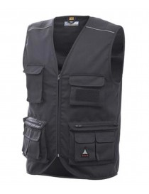 GILET MULTITASCHE CHROME BLU TAGLIA M